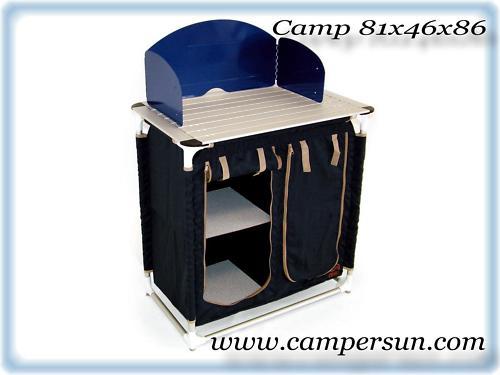 Mobiletto piano x fornello cucina camper campeggio
