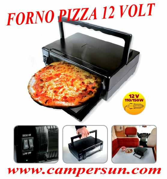 Forno portatile 12v pizza espress camper auto for Forno per pizza portatile
