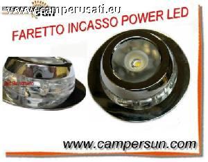 Faretto incasso 12 v power led camper caravan